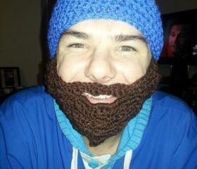 Crochet beard and hat set